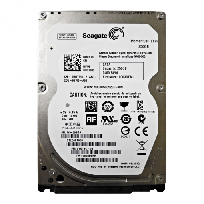 Seagate 250G Laptop Internal HDD