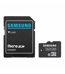 Samsung 32GB MicroSDHC Card Class 10 With Adapter