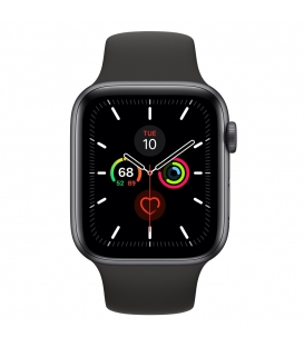 Apple Watch 5 Series 44MM | Gray Aluminum Case with Black Sport Band