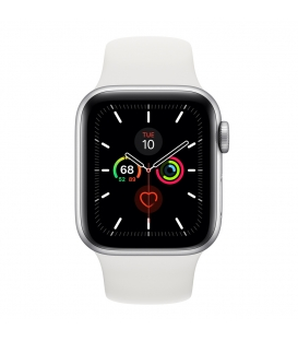 Apple Watch 5 Series 40MM   Silver Aluminum Case With Sport Band