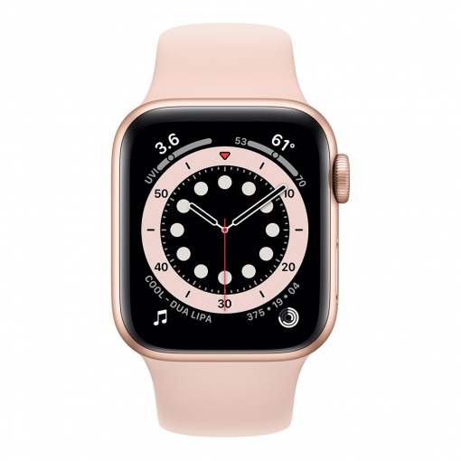 Apple Watch 6 Series 44MM | Gold Aluminum Case with Sport Band