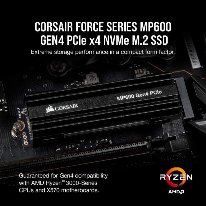 Corsair Force Series MP600 1TB Gen4 PCIe X4 NVMe M.2 Internal SSD