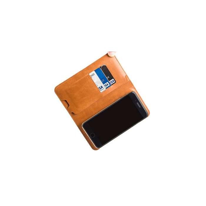 پاور بانک و کیف پول چرمیZHUSE مدل ZS-PB-016 6800mAh