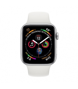 Apple Watch 4 Series | Silver Aluminum Case with White Sport Band