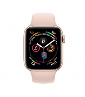 Apple Watch 4 44MM | Gold Aluminum Case with Pink Sport Band