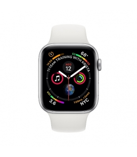Apple Watch 4 Series 40MM | Silver Aluminum Case with White Sport Band