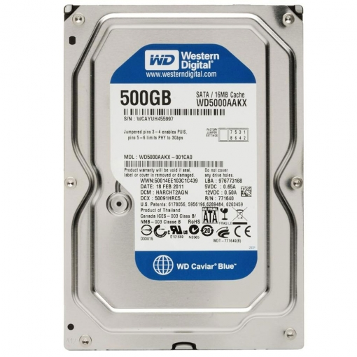 Western Digital Blue 500GB Internal HDD