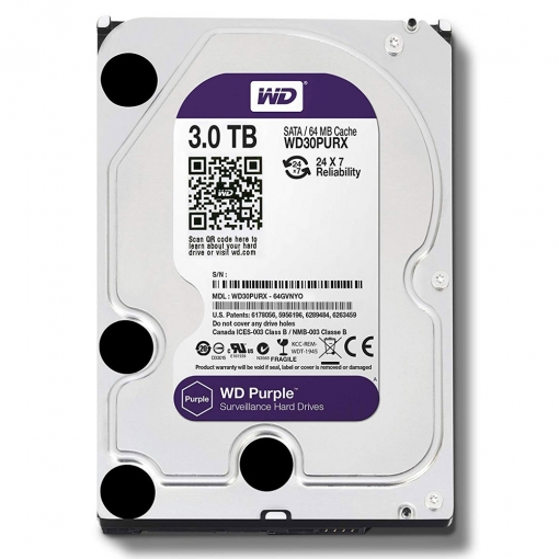 Western Digital Purple 3T Internal HDD