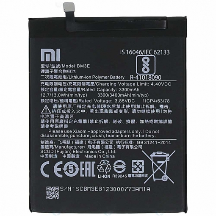 Xiaomi Mi 8 Battery BM3E 3400mAh