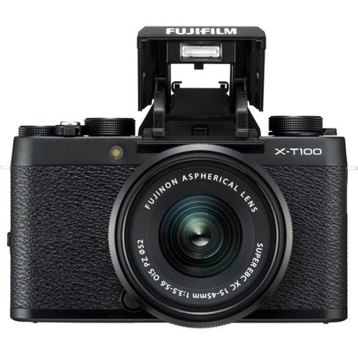 FUJIFILM X-T100 Mirrorless Digital Camera with 15-45mm Lens